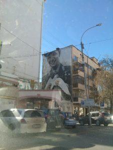 Екатеринбург космический. Гагарин на граффити